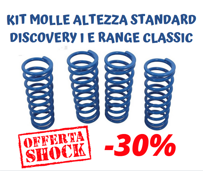 KIT 4 MOLLE BLUE SPRINGS ALTEZZA STANDARD DISCOVERY I RANGE CLASSIC - Picture N.1
