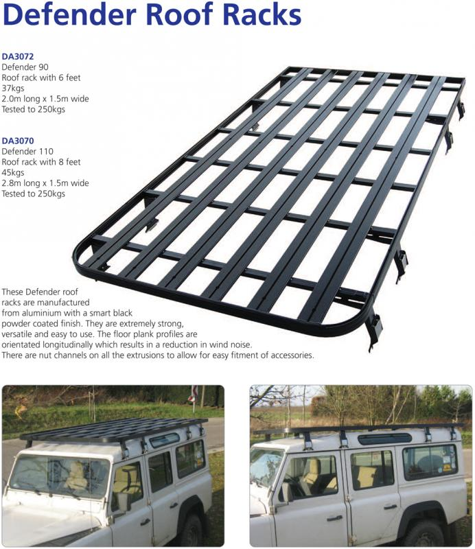 Land Rover Defender 110 Slimline Ii 3 4 Roof Rack Kit: AYLMER MOTORS ::: Defender Roof Rack